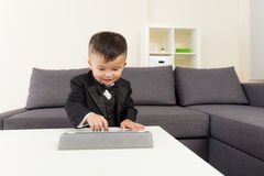 Little boy using digital tablet Royalty Free Stock Photos