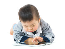 Little boy using tablet Royalty Free Stock Photo