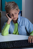 Little boy using technology in life Royalty Free Stock Image