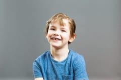 Little Boy uttryck - lyckligt leende Royaltyfri Bild