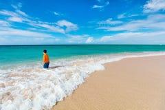 Little boy on vacation Stock Photos