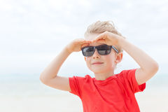 Little boy at vacation Stock Image