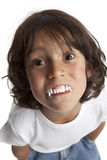 Little boy with vampires teeth Royalty Free Stock Image