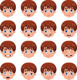 Little boy various face expressions. Illustration of Little boy various face expressions Royalty Free Stock Photography