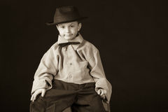 Little boy vintage Stock Photos