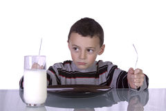 Free Little Boy Waiting For Dinner Royalty Free Stock Photos - 13594498