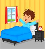 Little boy wake up in the morning Stock Photo