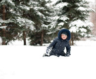 Little boy on  walk Royalty Free Stock Image