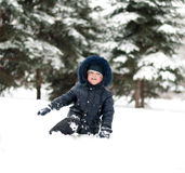 Little boy on  walk Royalty Free Stock Image