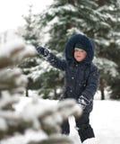 Little boy on  walk Royalty Free Stock Photo