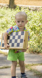 Little boy walking Stock Photo