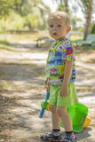 Little boy walking Royalty Free Stock Photography