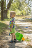 Little boy walking Stock Photos