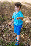 Little boy walking in the nature Royalty Free Stock Photo