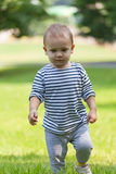 Little boy walks Royalty Free Stock Photos