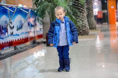 Little boy warm clothes Stock Photography