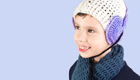 Little boy in warm hat Royalty Free Stock Photography