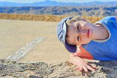 Little boy watching on you Stock Photography