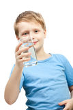 Little boy and water. Royalty Free Stock Photo