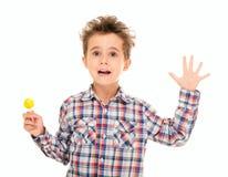 Little boy wave goodye Royalty Free Stock Images