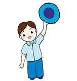 Little Boy waving Stock Photo