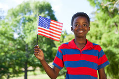 Little boy waving american flag Royalty Free Stock Images