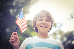Little boy waving american flag Stock Photography