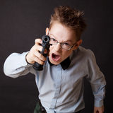 A little boy with a weapon Royalty Free Stock Photo