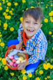 Little boy wearing bunny ears Royalty Free Stock Photography