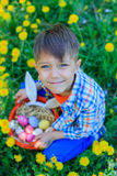 Little boy wearing bunny ears Royalty Free Stock Image