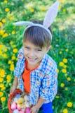 Little boy wearing bunny ears Royalty Free Stock Photo