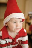 Little boy wearing Christmas Hat Royalty Free Stock Photos