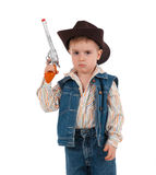 Little boy wearing a cowboy hat Stock Images