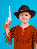 Little boy wearing a cowboy hat Stock Photos