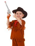 Little boy wearing a cowboy hat Royalty Free Stock Photos