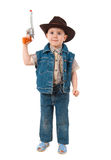 Little boy wearing a cowboy hat Royalty Free Stock Image