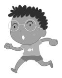 Little boy wearing eyeglasses Royalty Free Stock Image