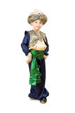 Little boy wearing oriental costume Royalty Free Stock Photos