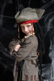 Little boy wearing pirate costume Stock Image