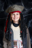 Little boy wearing pirate costume royalty free stock photo