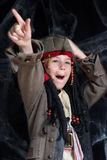 Little boy wearing pirate costume Stock Photography