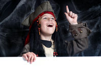 Little boy wearing pirate costume Royalty Free Stock Image