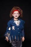 Little boy wearing pirate costume. Halloween Royalty Free Stock Image