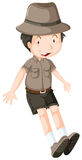 Little boy wearing safari outfit Stock Images