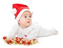 Little boy wearing a Santa hat Royalty Free Stock Image