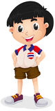 Little boy wearing shirt and shorts Royalty Free Stock Photography