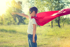 Little boy wearing superhero costume Royalty Free Stock Photography