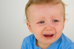 Little Boy Weeping Stock Photos