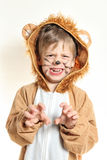 Little boy with whiskers playing lion Royalty Free Stock Photography