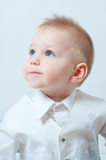 Little boy in a white shirt Stock Images